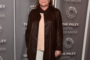 Kate Mulgrew Leather Coat