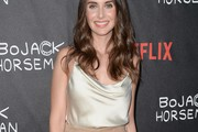 Alison Brie Cowl Neck Top