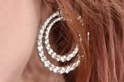 Bella Thorne Diamond Hoops