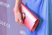 Rosie Huntington-Whiteley Satin Clutch