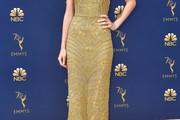 Natalia Dyer Embroidered Dress