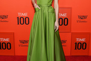 Brie Larson Strapless Dress
