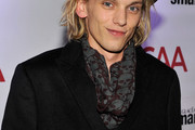 Jamie Campbell Bower Patterned Scarf