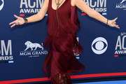 Reba McEntire Fringed Dress