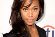 Nicole Beharie Long Wavy Cut with Bangs
