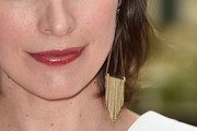 Milla Jovovich Gold Chandelier Earrings