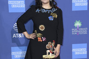 Jennifer Tilly Embroidered Dress