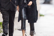 Gemma Chan Leather Pants