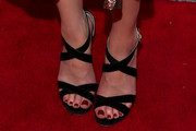 Amber Heard Strappy Sandals