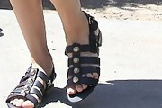 Kaley Cuoco-Sweeting Studded Sandals