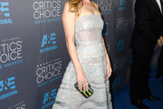 Leslie Mann Strapless Dress