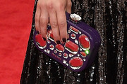 Dianna Agron Gemstone Inlaid Clutch