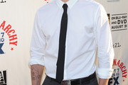 Charlie Hunnam Narrow Solid Tie