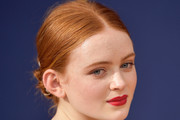 Sadie Sink Twisted Bun