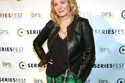 Kim Cattrall Leather Jacket
