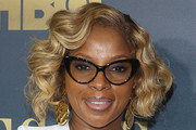 Mary J. Blige Curled Out Bob