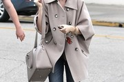 Lily Collins Cross Body Tote