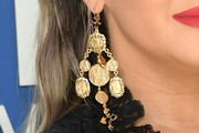 Maren Morris Gold Chandelier Earrings