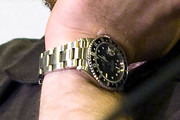 Sam Rockwell Gold Chronograph Watch