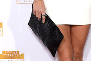 Tori Praver Leather Clutch