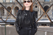 Isabelle Huppert Leather Jacket