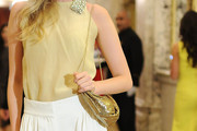 Elsa Hosk Metallic Shoulder Bag