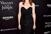 Saffron Burrows Strapless Dress