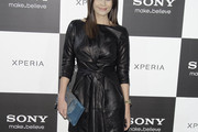 Maria Jose Suarez Leather Dress