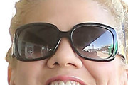 Kristen Johnston Oversized Sunglasses