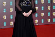 Olivia Colman Embroidered Dress