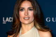 Salma Hayek Feathered Flip