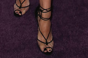 Eva Longoria Lace-Up Heels