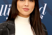 Eiza González Long Straight Cut with Bangs