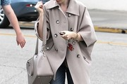 Lily Collins Pea Coat