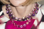 Anna Wintour Layered Gemstone Necklace