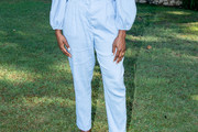Lashana Lynch High-Waisted Pants