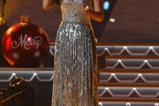 Kacey Musgraves Strapless Dress