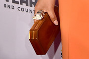Chrissy Teigen Metallic Clutch