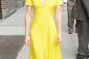 Lizzy Caplan Midi Dress