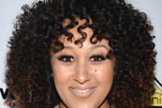 Tamera Mowry Medium Curls with Bangs