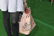 Stephanie Seymour Leather Tote