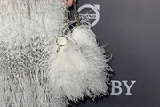 Jessica Alba Feathered Clutch
