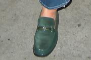 Courteney Cox Suede Loafers