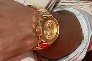Diggy Simmons Gold Chronograph Watch