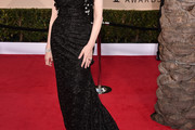 Geena Davis Strapless Dress