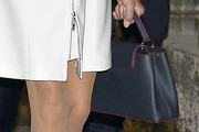 Brigitte Macron Leather Tote