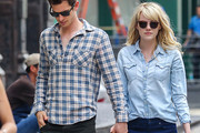 Andrew Garfield Button Down Shirt