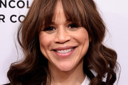 Rosie Perez Medium Wavy Cut with Bangs