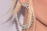 Hailey Bieber Diamond Hoops
