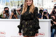 Elizabeth Olsen Print Dress